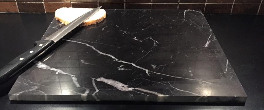 Alle nye Bakeplate/skjærebrett i sort marmor - Marmor og naturstein AF-51