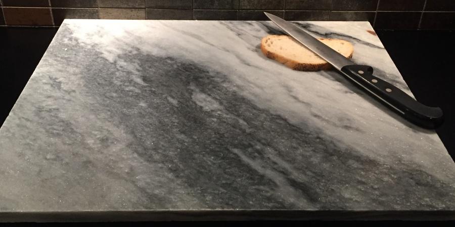 Svært Bakeplate/skjærebrett i grå marmor - Marmor og naturstein SP-26