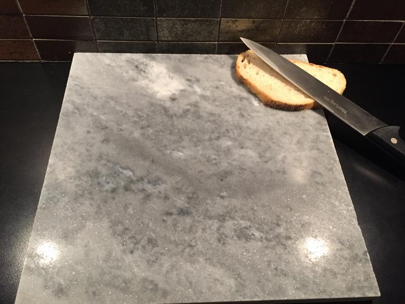 Veldig Bakeplate/skjærebrett i grå marmor - Marmor og naturstein MQ-52